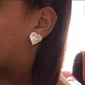 Jewelry - Swarovski heart shaped stud earings